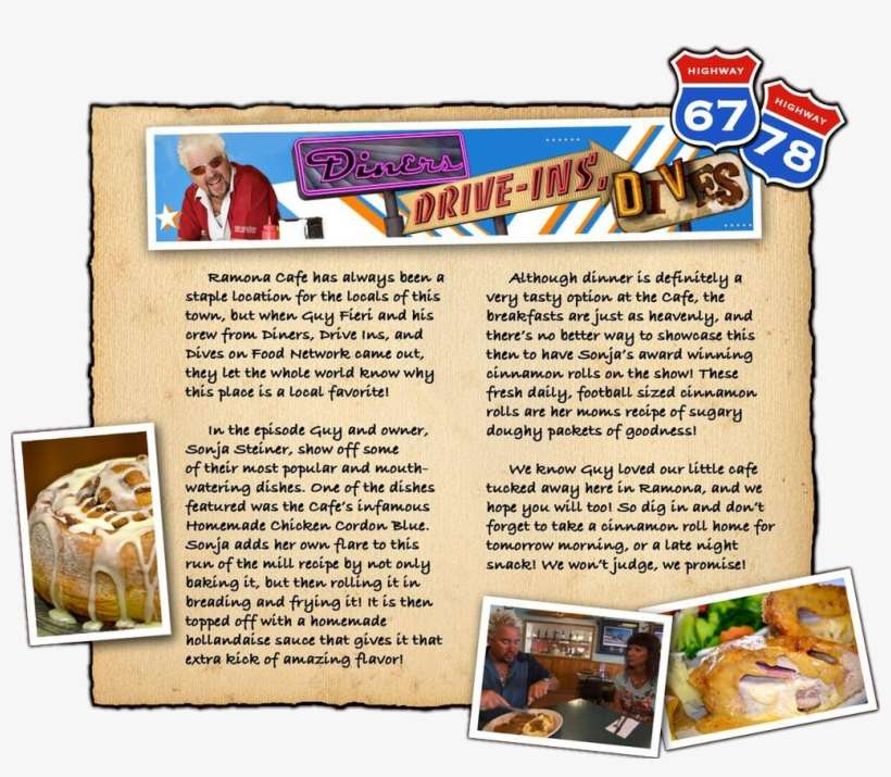 Diners Drive In And Dives Map on