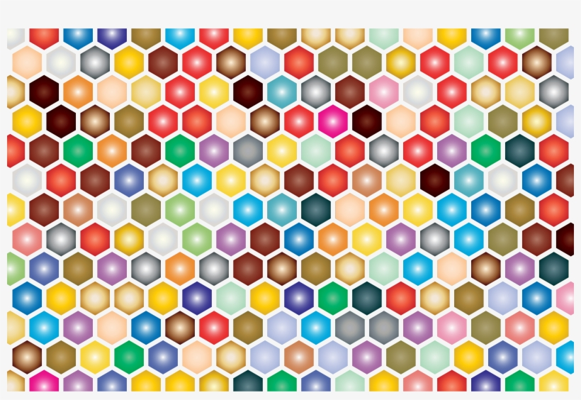 This Free Icons Png Design Of Colorful Hex Grid Pattern PNG Image