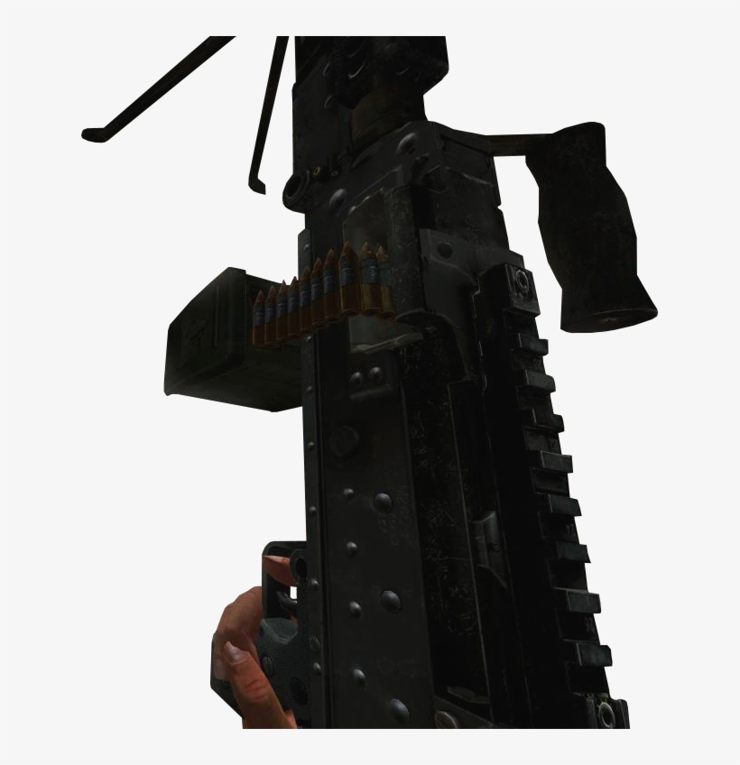 M240 Holding-up Mw2 - M240 Machine Gun PNG Image