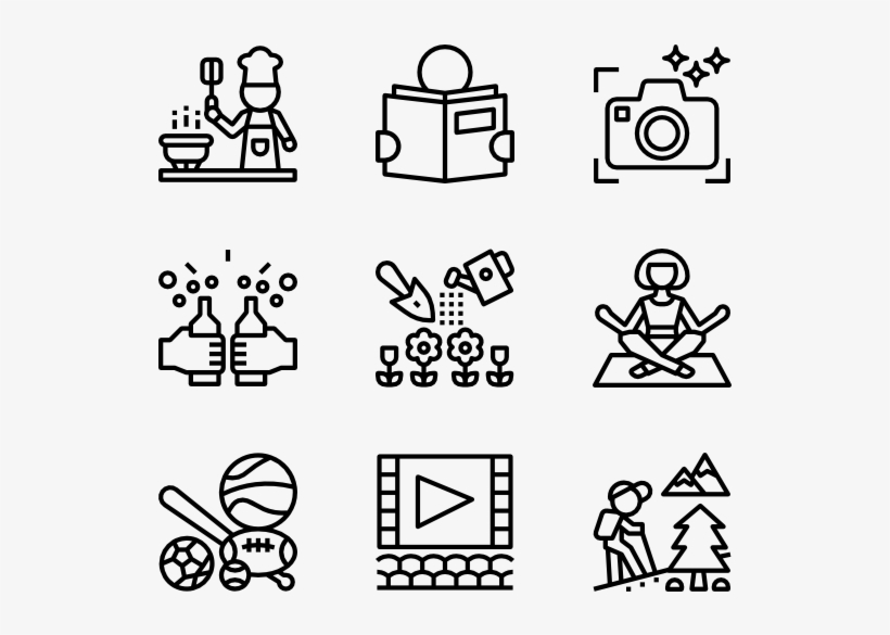 Hobbies 36 Icons Design Vector Icon Png Image Transparent Png Free Download On Seekpng