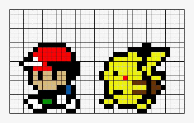 Ash And Pikachu Pixel Art Png Image Transparent Png Free