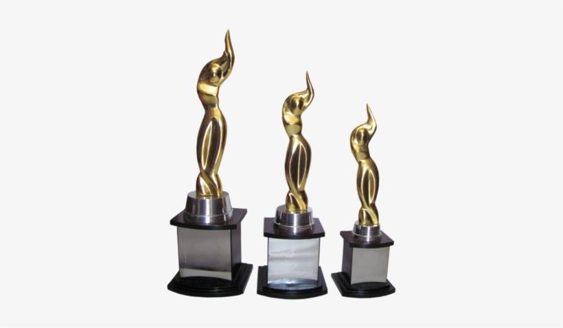 Lk Iifa Lady Golden Trophy - Iifa Awards 2018 Trophy PNG Image