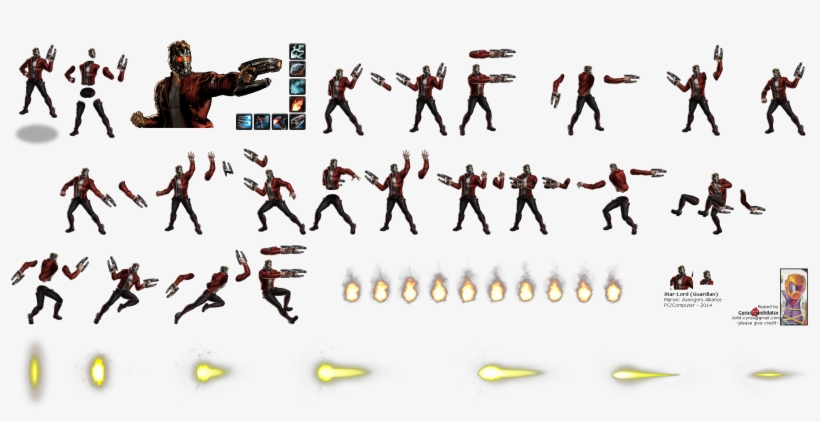 Click To View Full Size - Star Lord Sprite Sheet PNG Image