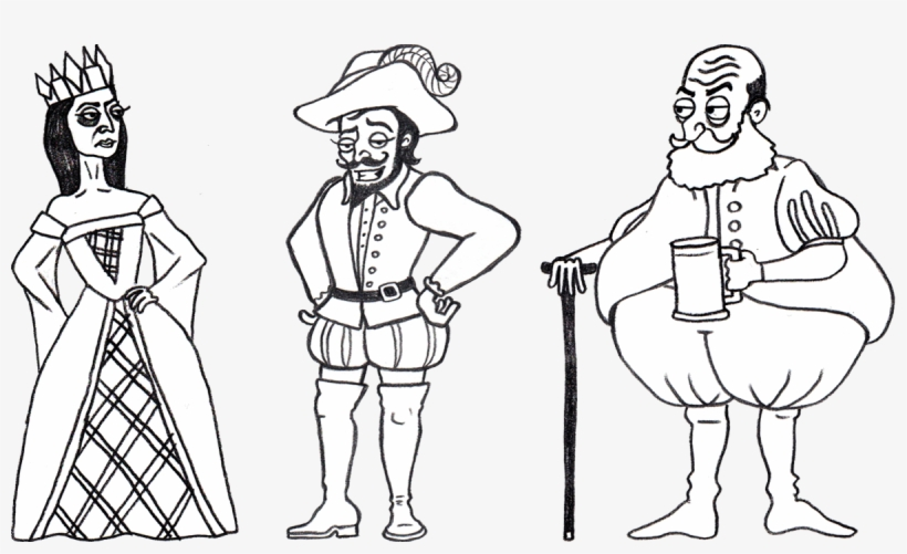 Bbc Learning English - Shakespeare Characters Black And White PNG