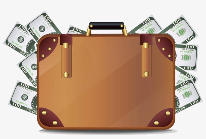 Briefcase Full Of Money Png Art Mala De Dinheiro Desenho Png
