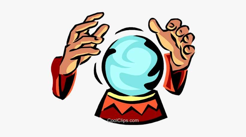 Crystal Ball Royalty Free Vector Clip Art Illustration - Fortune