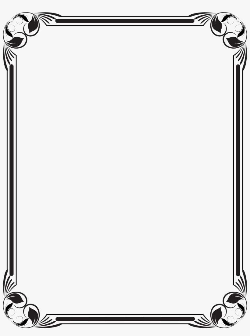 Stencil - Black And White Frame Borders Design PNG Image