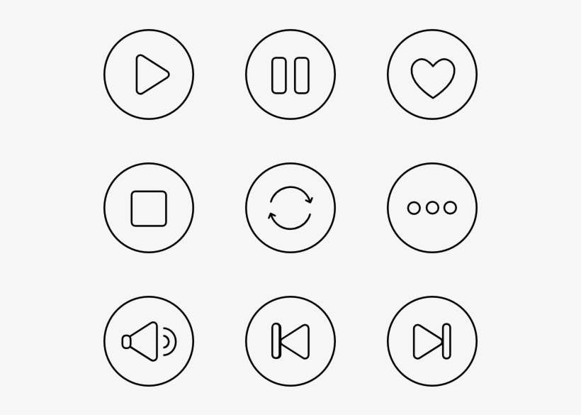 Music Player Vector - Music Player Buttons Png@seekpng.com