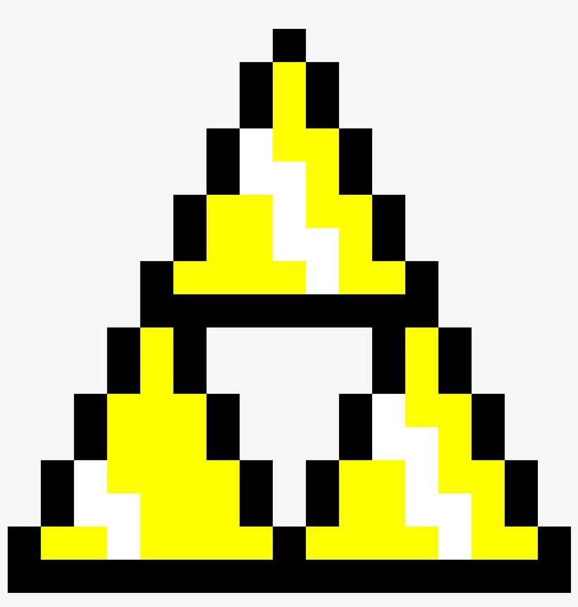 Pixel Art Maker - Triforce Pixel PNG Image | Transparent PNG Free