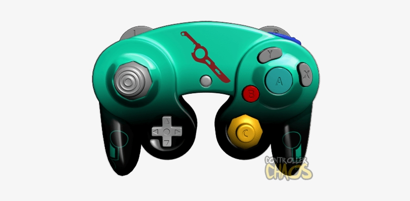 Shulk - Custom Marth Gamecube Controller PNG Image