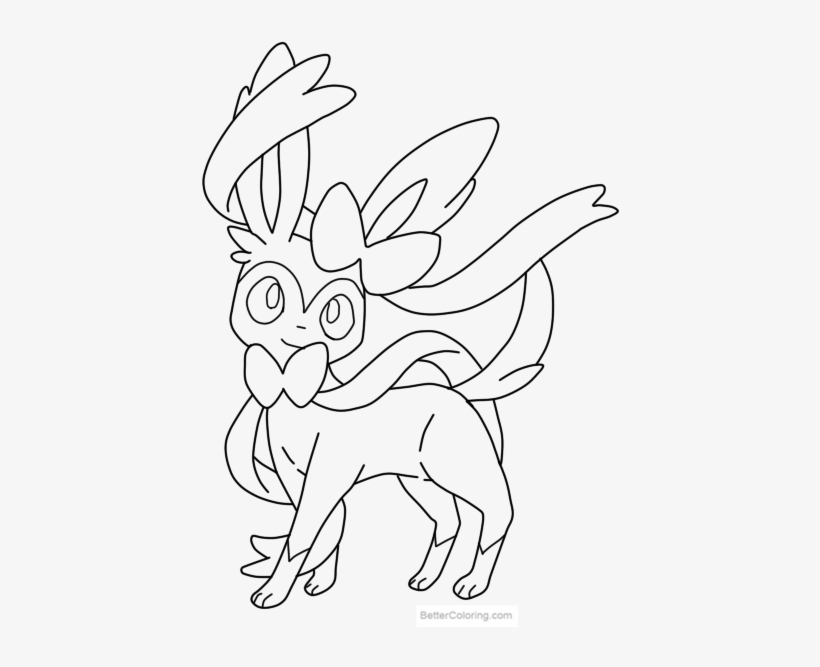 Download This Coloring Page Pokemon Sylveon Coloring Pages