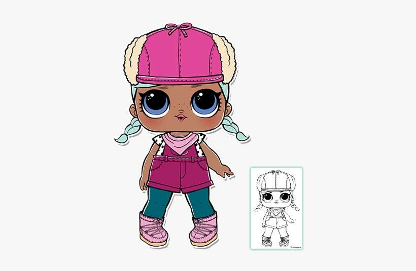 Lol Surprise Doll Coloring Pages Page 9 Color Your - Brrr Bb Lol Doll PNG  Image Transparent PNG Free Download On SeekPNG