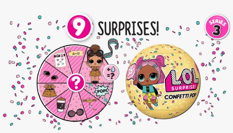 Confetti Pop Tots Lol Surprise Lil Sister Doll Series 2 Png Image Transparent Png Free Download On Seekpng