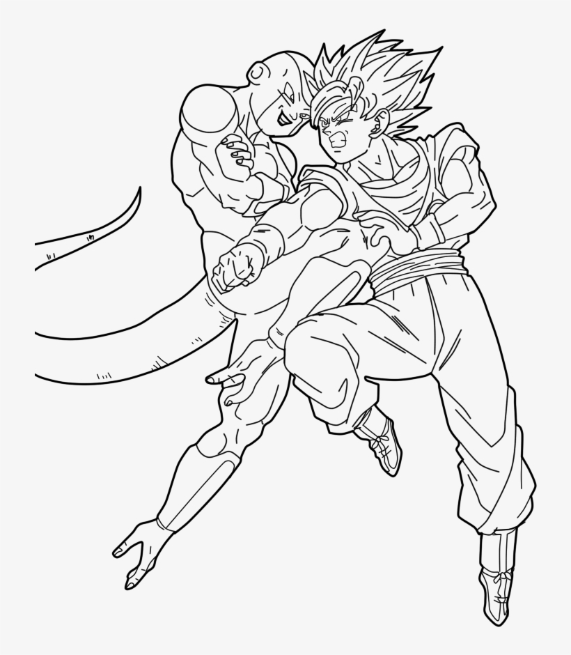 - Dragon Ball Z Frieza Coloring Pages New Dragon Ball - Dragon Ball Super  Lineart PNG Image Transparent PNG Free Download On SeekPNG