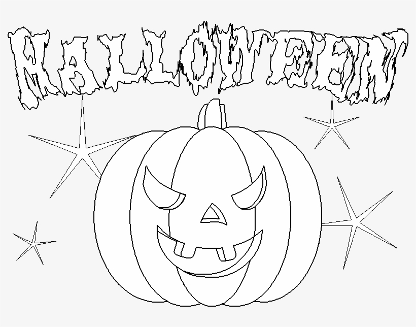 Scary Halloween Pumpkin Coloring Pages Png Image Transparent Png Free Download On Seekpng