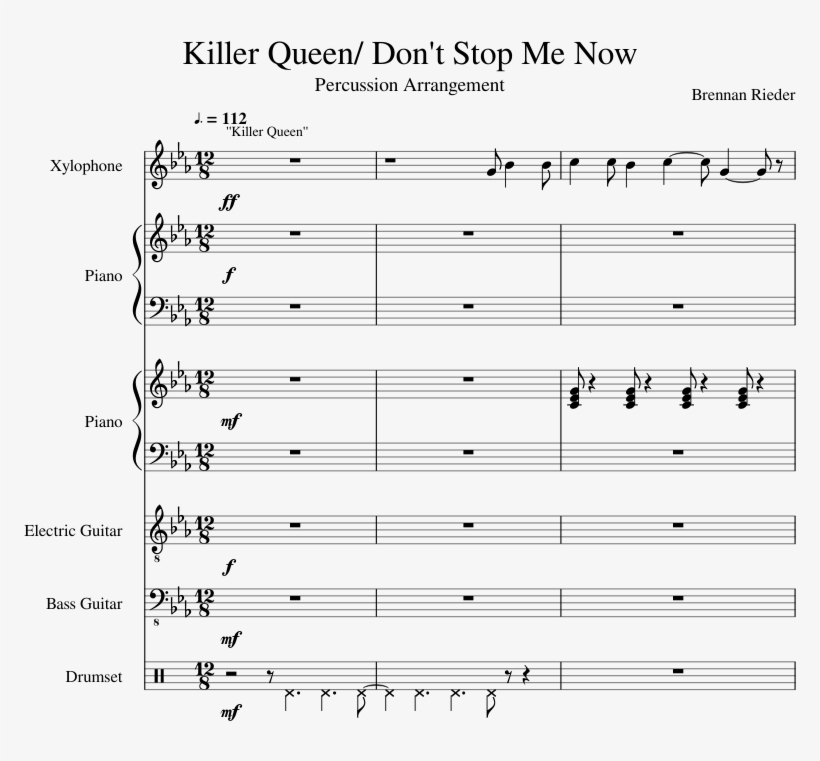 Killer Queen/ Don't Stop Me Now Sheet Music Composed - Shape