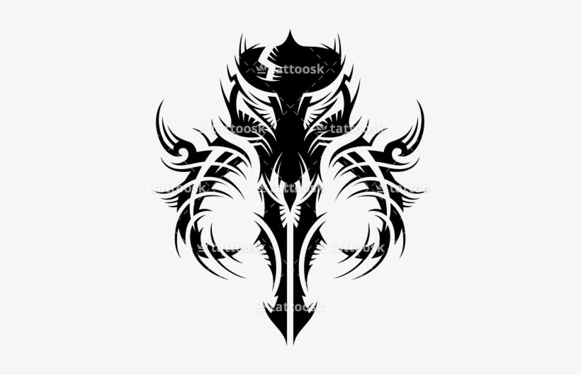 Png Black And White Mandalorian Skull - Mandalorian Tribal Tattoo@seekpng.com
