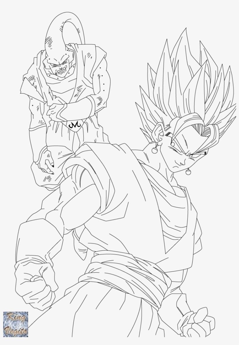 Dragon Ball Z Super Vegito Coloring Pages Sketch Coloring Vegito