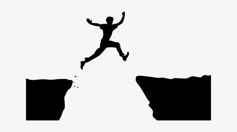 Person jumping. Clipart png image transparent
