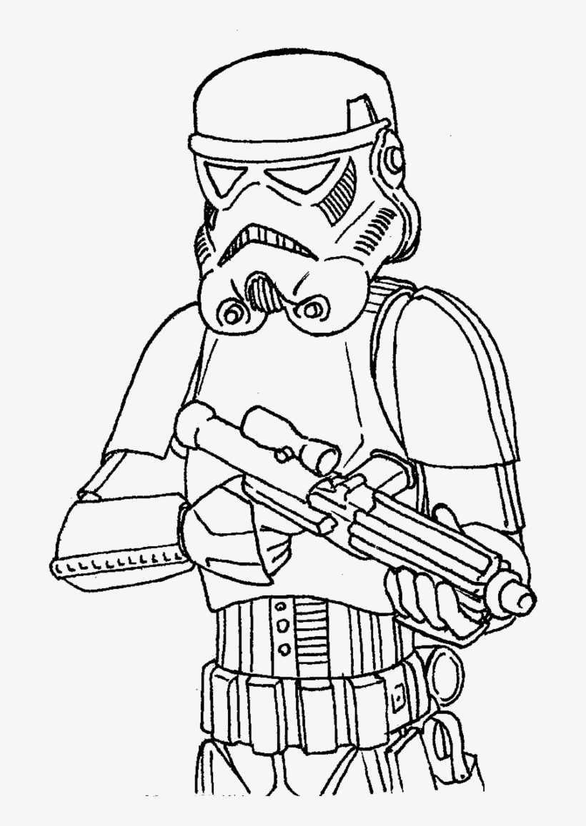 Star Wars Stormtrooper Coloring Pages Best Drawing Of Star Wars Png Image Transparent Png Free Download On Seekpng
