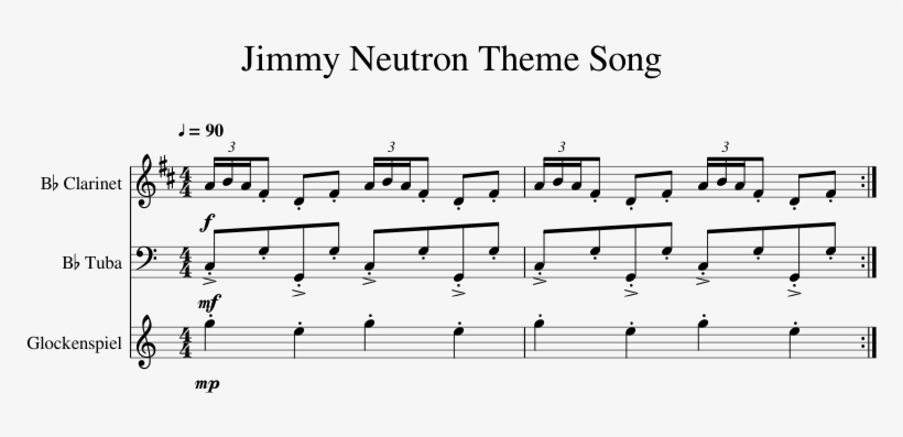 Jimmy Neutron Theme Song Sheet Music 1 Of 1 Pages - Binary