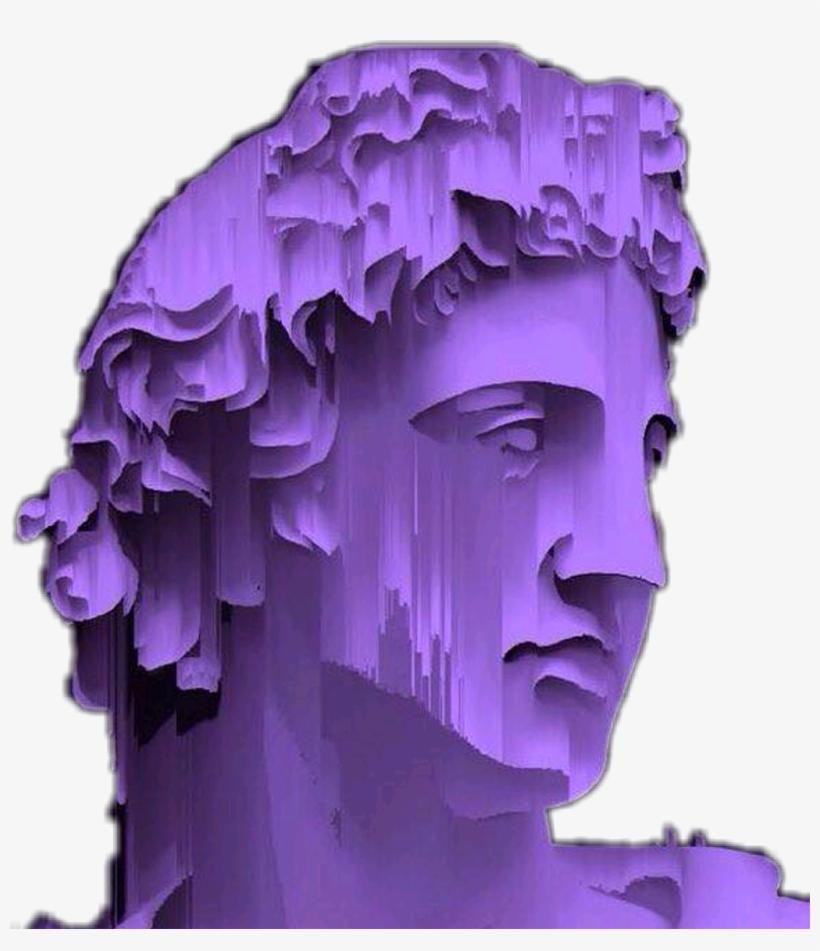 fb62e06e126e0 Aesthetics Vaporwave Sadboys Aids Webpunk Seapunk Grung - Vaporwave  Transparent Statue Head