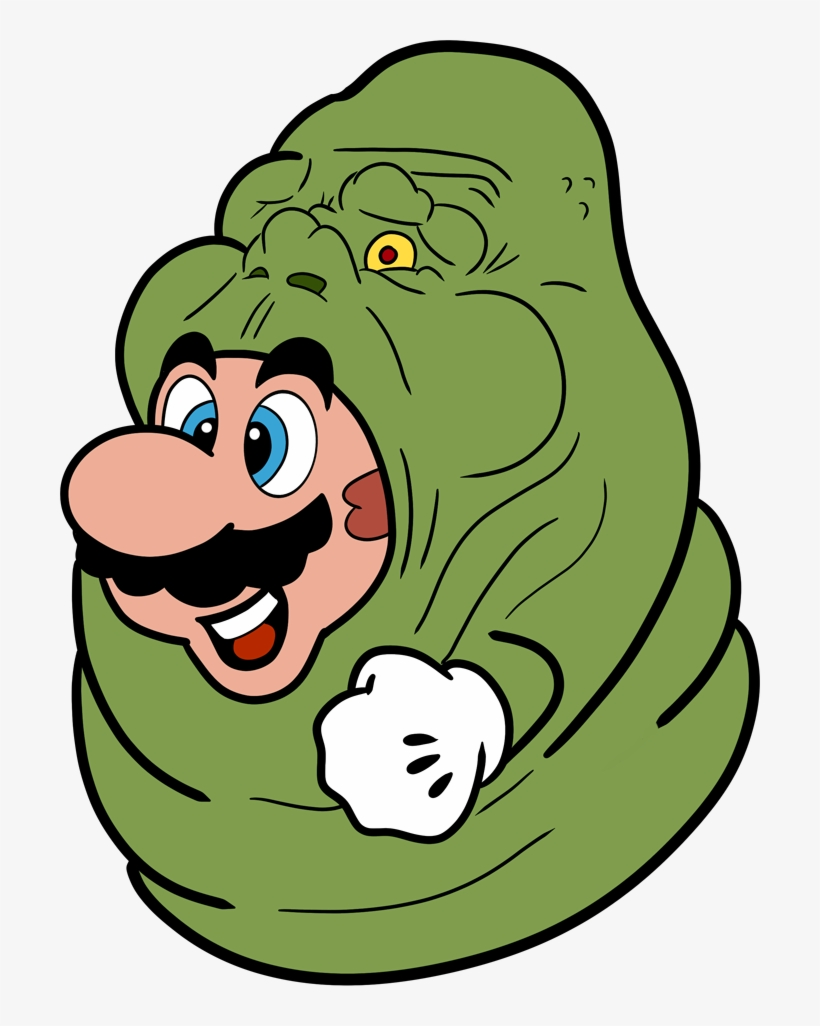 Slimer Drawing Cartoon Mario Series Png Image Transparent Png