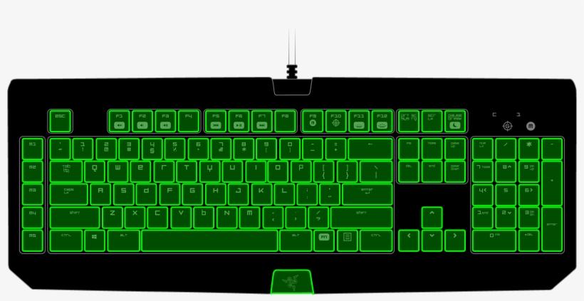 Razer Blackwidow Chroma - Computer Keyboard PNG Image   Transparent