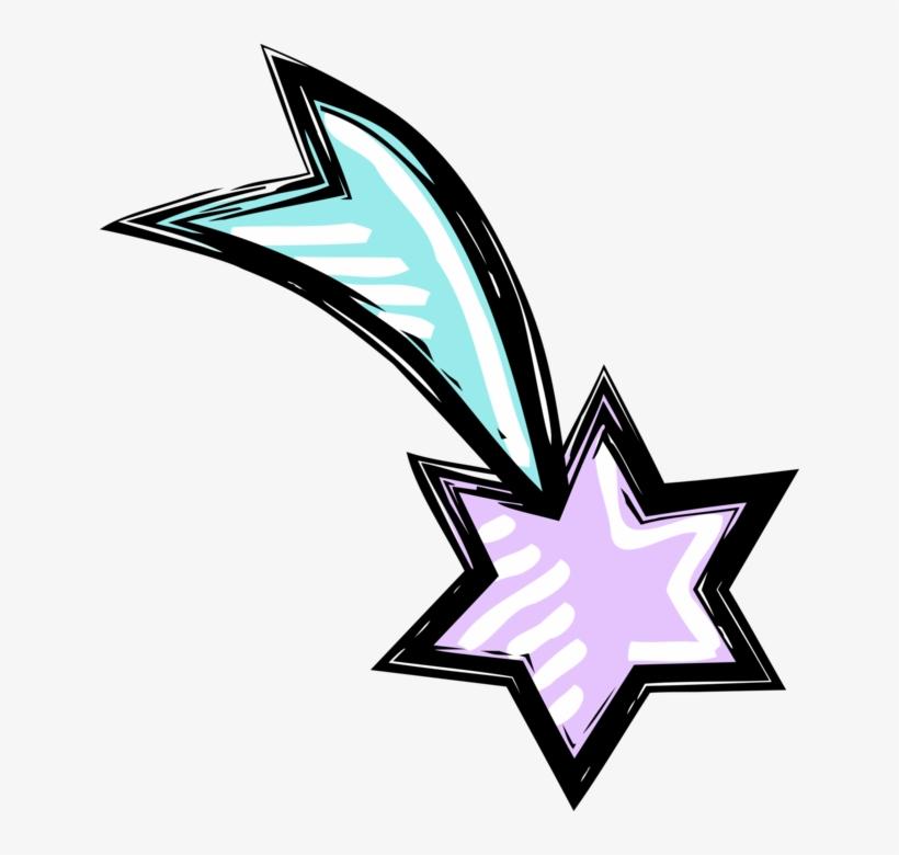 Vector Illustration Of Shooting Star Of Bethlehem At Estrella De