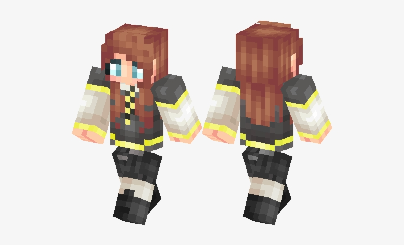 Hufflepuff Girl Minecraft Skin PNG Image | Transparent PNG