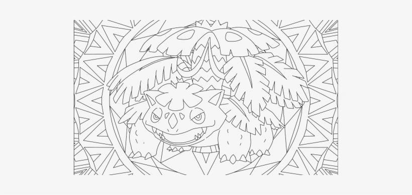 Venusaur Pokemon Coloring Page - Free Pokémon Coloring Pages ... | 390x820