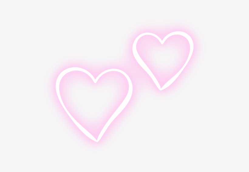 Two Hearts Pink Neon Tumblr Editpng Pngedit Pngedits - Pink