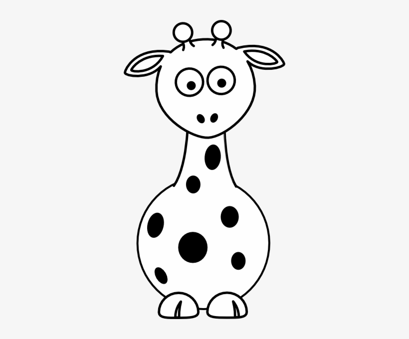 Baby Giraffe Clip Art Black And White - Animals Clipart Black And White@seekpng.com