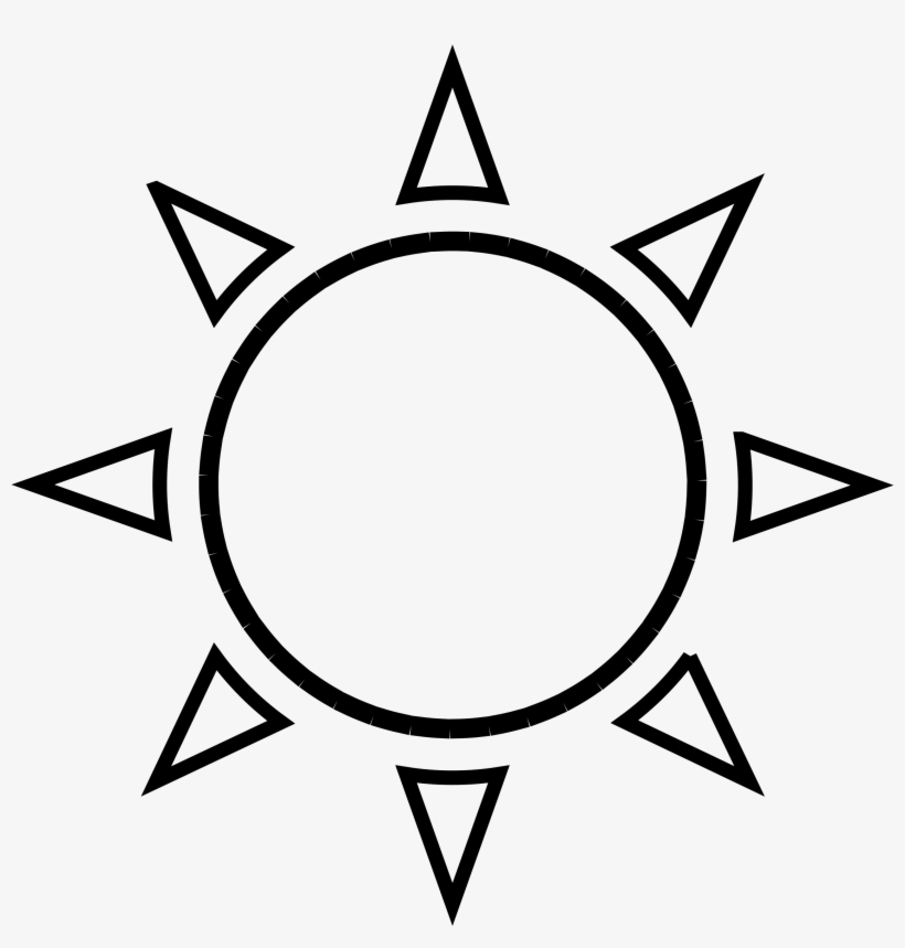 Sun Clipart Outline Png Sun Drawing Black And White Png Image