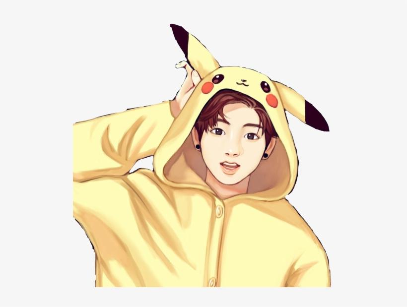 17 179635 bts sticker jungkook pikachu draw cutefreetoedit jungkook bts