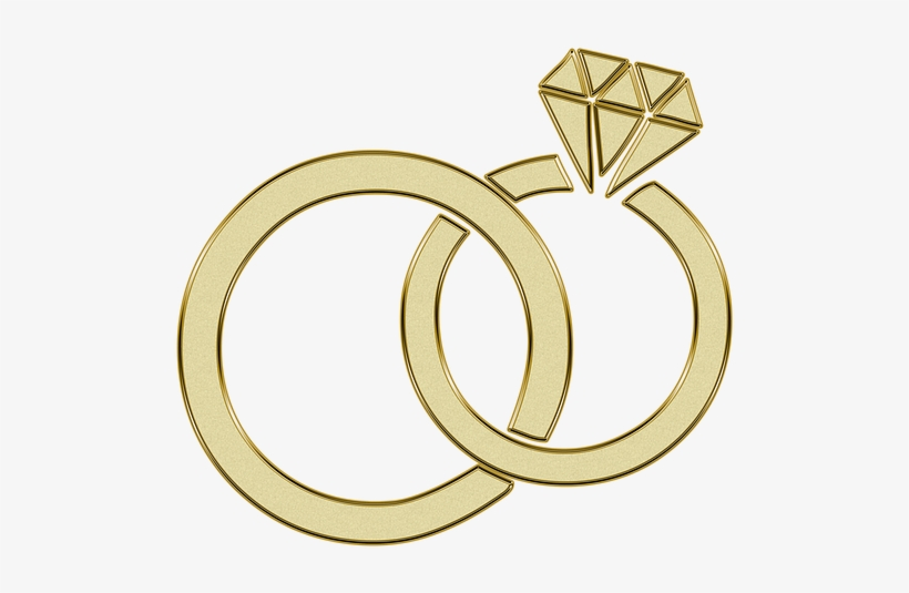 Golden Ring Engagement Wedding Rings Gold Diamond Clipart Png Image Transparent Png Free Download On Seekpng