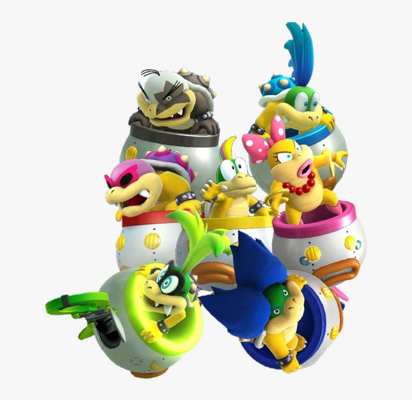 Koopalings And Bowser Jr Ssb4 Los Koopalings Y Sus Naves