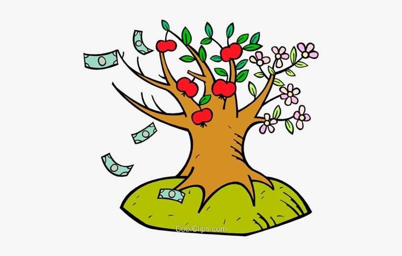 Flower Apple And Money Tree Royalty Free Vector Clip Arboles Con