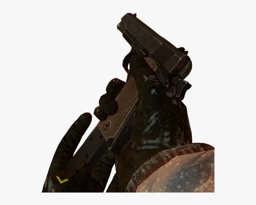 M1911 Transparent Black Ops 2 1911 Bo3 Zombies Png Image