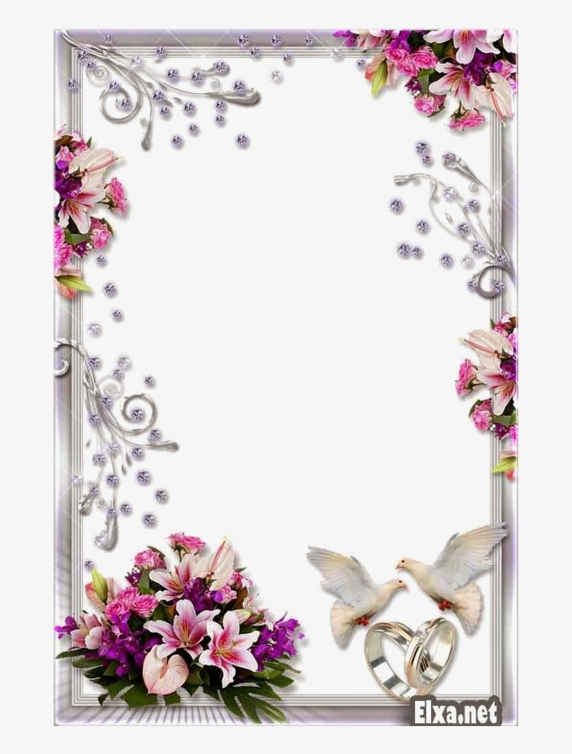 Wedding Frame Png Transparent Background Wedding Flower