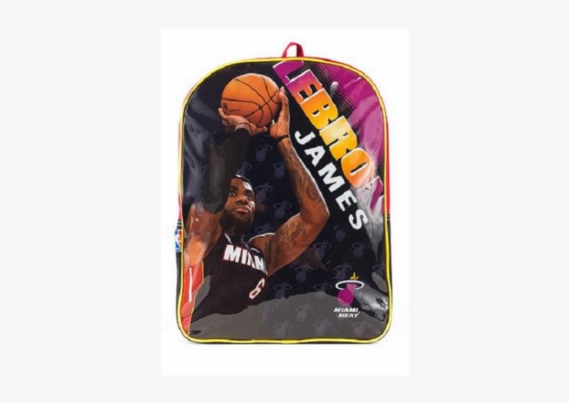 Nba Lebron James Miami Heat Logo Backpack Backpack Png Image Transparent Png Free Download On Seekpng