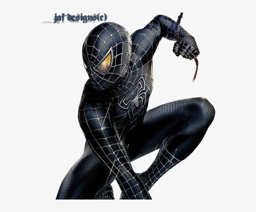 black spiderman png