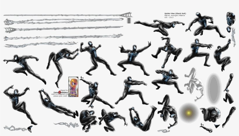 Spiderman Sprite Png Spider Man Black Suit And Sinister Six Png