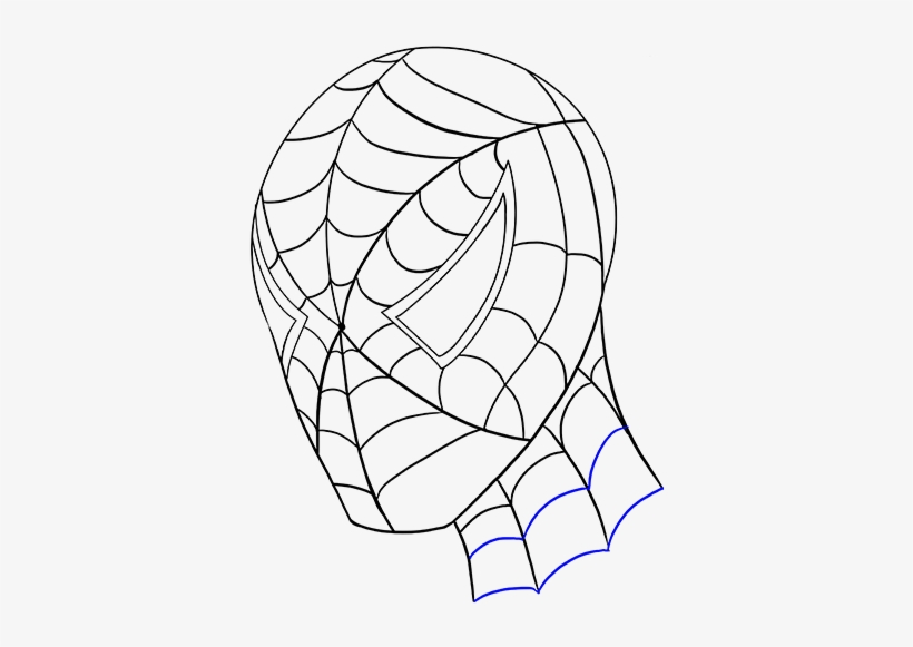 Drawn Spiderman Head Dibujos De Spiderman Lapiz Png Image