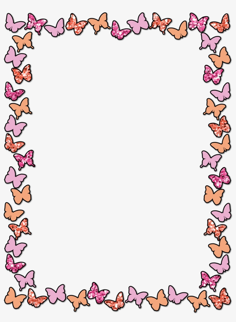 881b33d6735 Clipart Letters Spring - Colorful Cute Border Design PNG Image ...