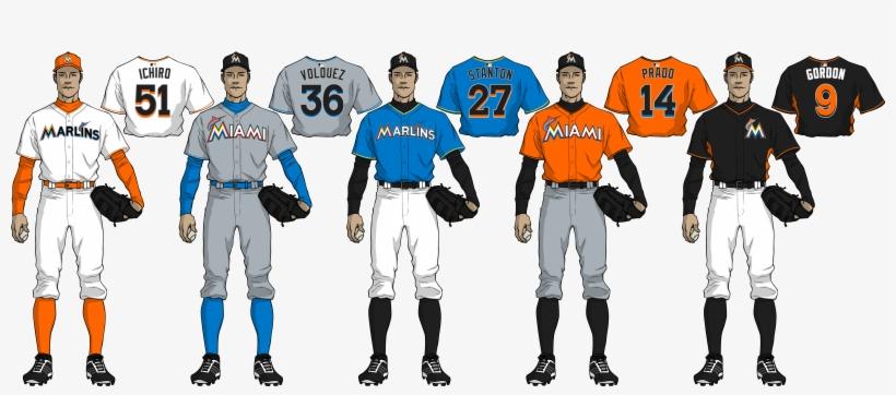 new product 8ffb9 43628 Mockup - Miami Marlins Uniforms 2018 PNG Image | Transparent ...