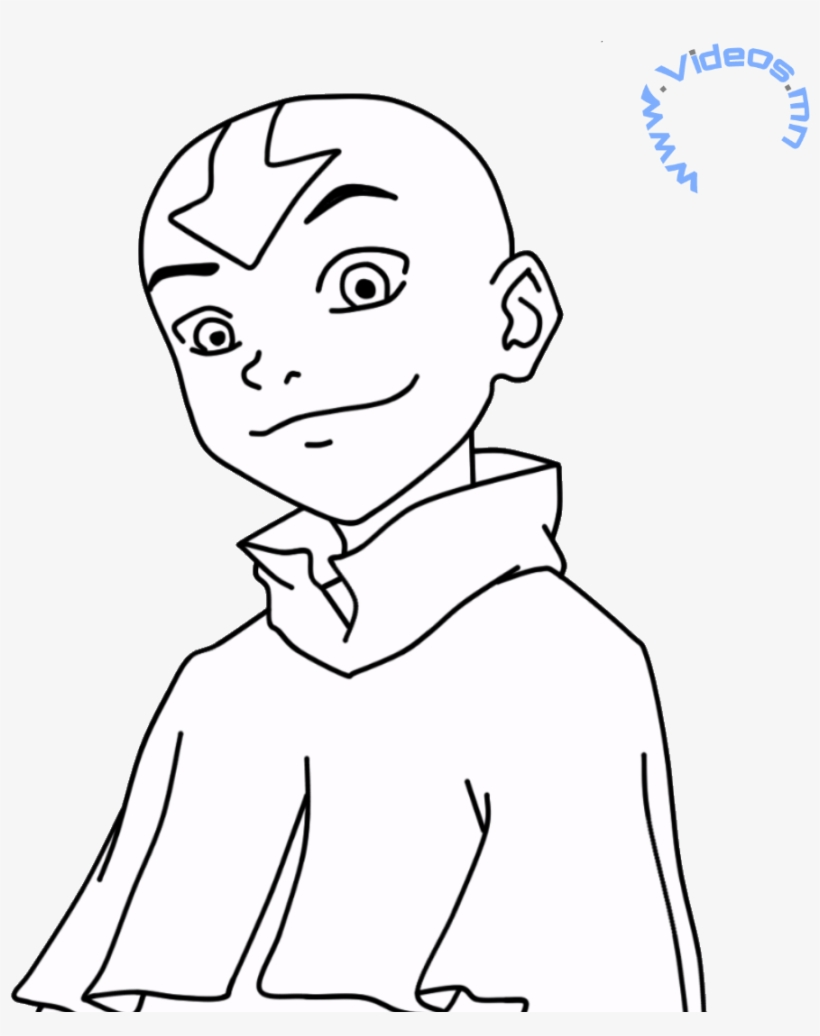 The Last Airbender Aang The Last Airbender Coloring Pages Png Image Transparent Png Free Download On Seekpng