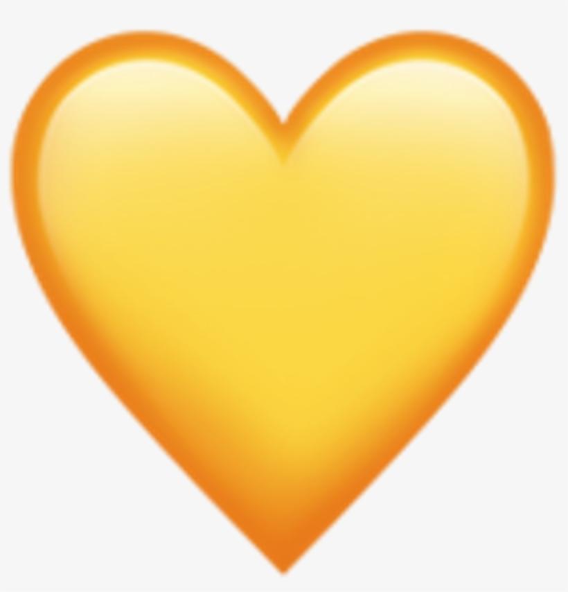 Iphone Emoji Heart Yellow Jpg Free Stock - Yellow Heart Emoji Iphone