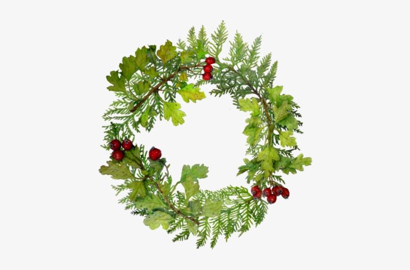 Watercolor Christmas Wreath Png.Yule Wreath In Watercolor Christmas Tree Circle Png Png