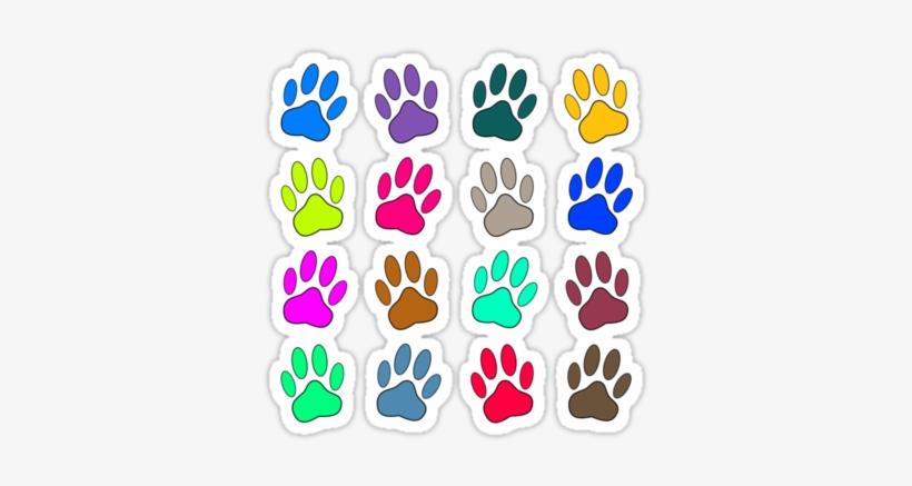 Multicolored Dog Paw Print Pattern Stickers Multicolored Dog Paw Print Pattern Beach Towel Png Image Transparent Png Free Download On Seekpng Leopard cheetah paper animal print pattern, cheetah transparent background png clipart. multicolored dog paw print pattern